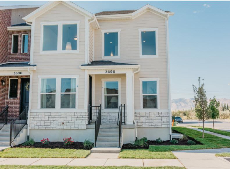 The Exhange Exterior Townhome Model Chantelle Plan Edge Homes Communie
